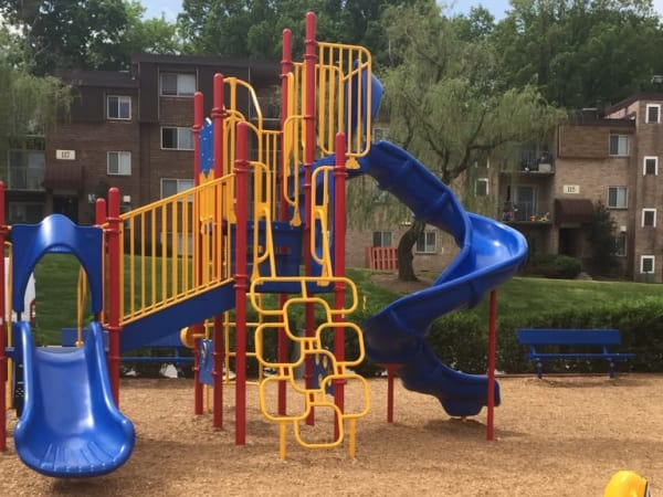 A playground at apartments in Glen Burnie, Maryland