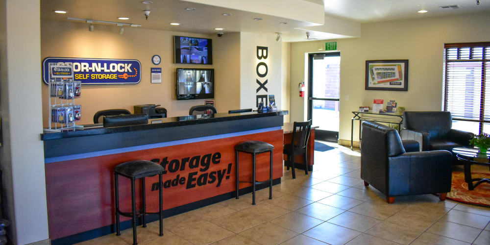 Inside the office at STOR-N-LOCK Self Storage in Hurricane, Utah