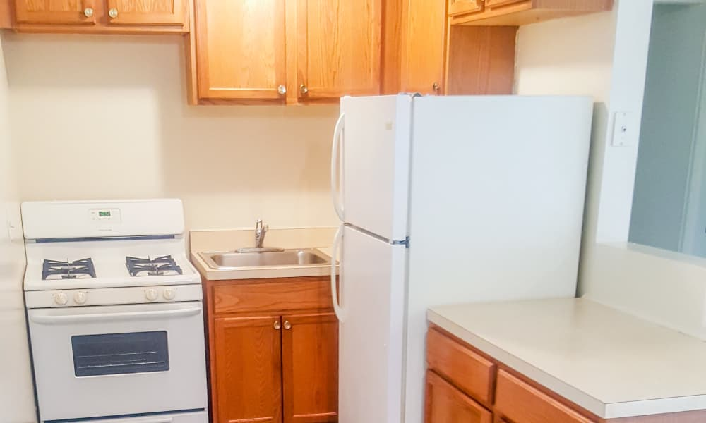 Fully equipped kitchen at Ocean Terrace Apartment Homes
