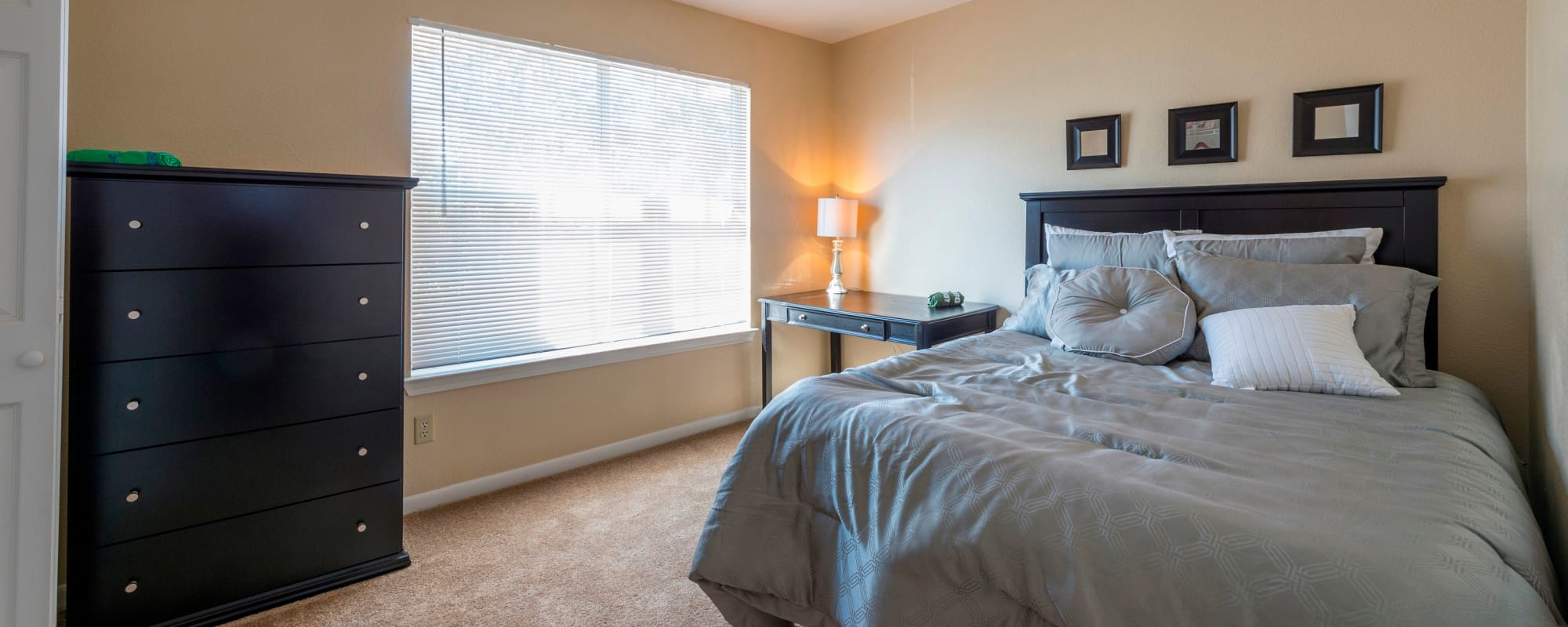 Beautiful bedroom at Parcside in College Station, Texas