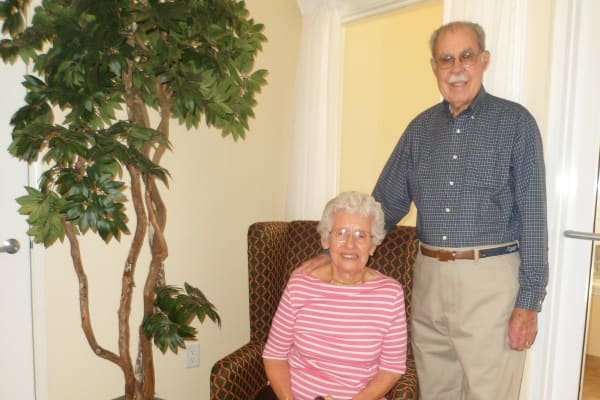 John & Cathie Guiou at The Highlands Gracious Retirement Living in Westborough, Massachusetts