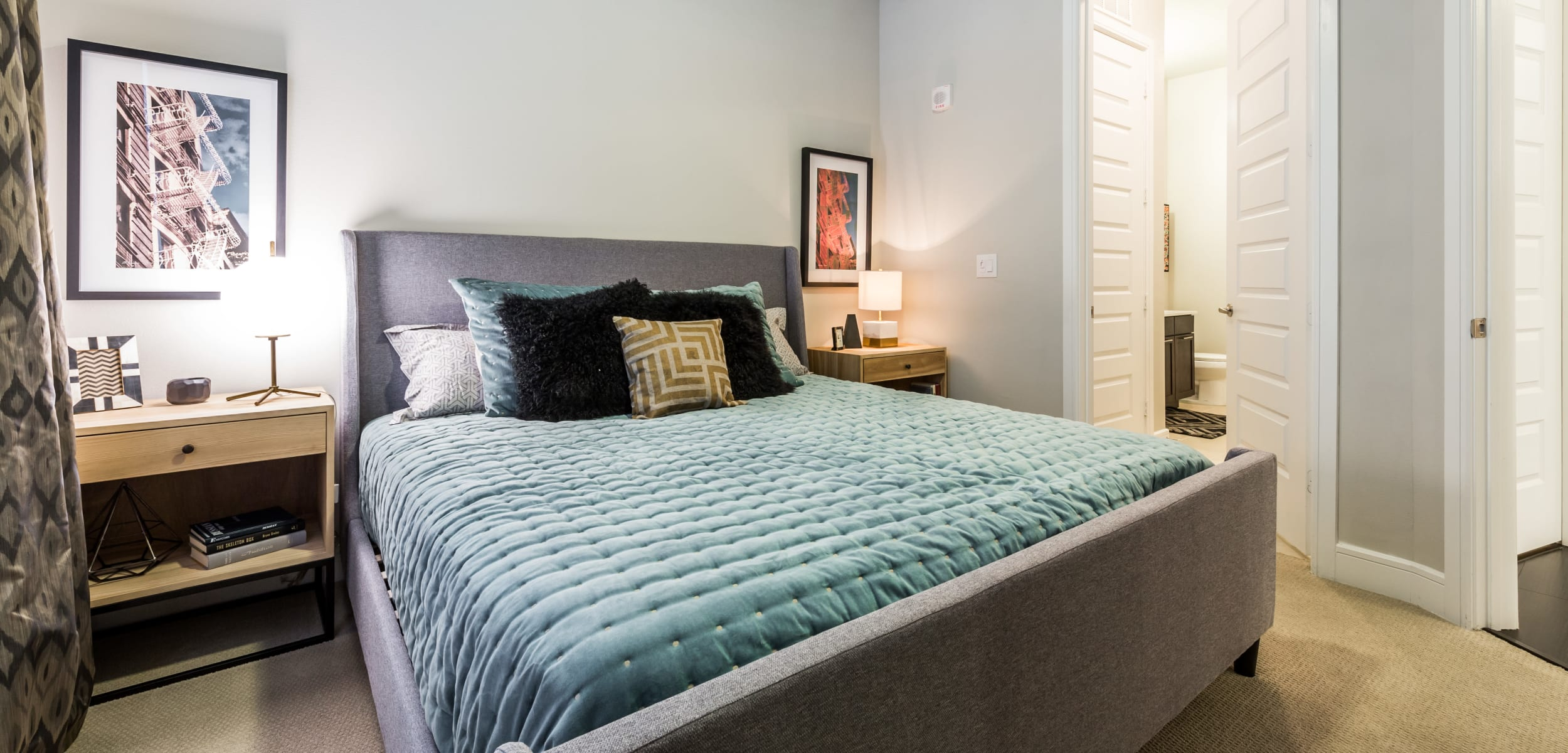 Bright, spacious bedroom at Marq 31 in Houston, Texas