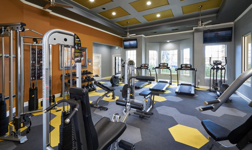 Fitness area at Legend Oaks Apartments