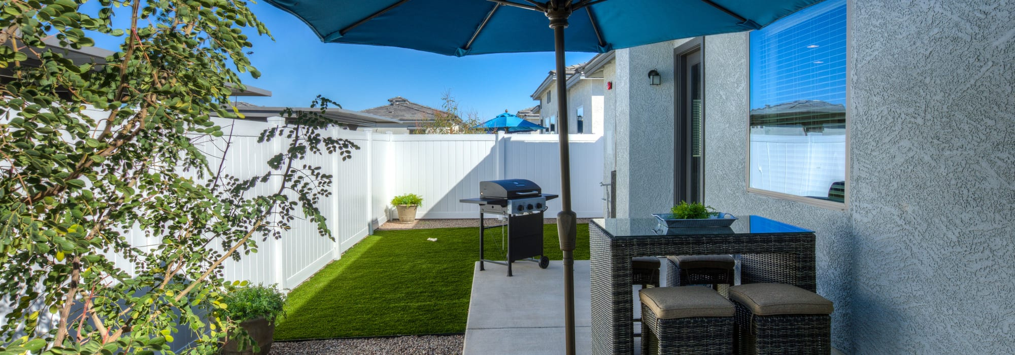 Spacious patio to entertain friends and family at Christopher Todd Communities on Greenway in Surprise, Arizona