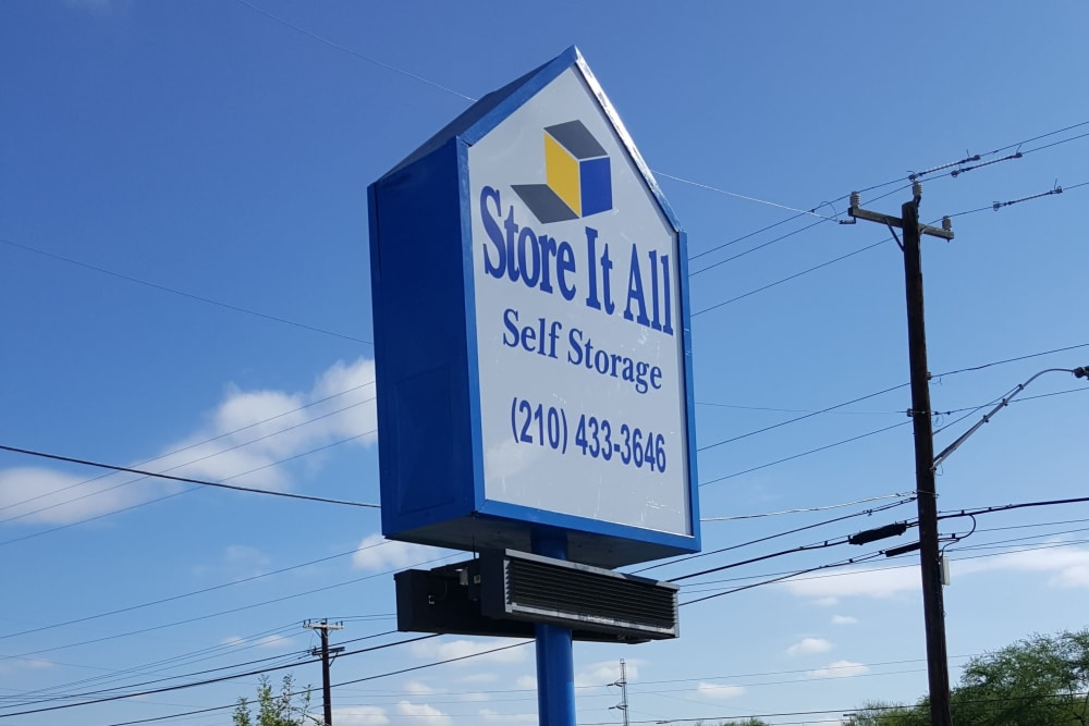 Signage at Store It All Self Storage - McMullen in San Antonio, TX