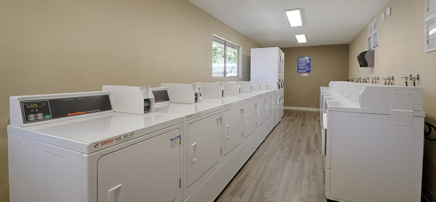 On-site laundry facilities at Country Hills Apartment Homes in Corona, CA