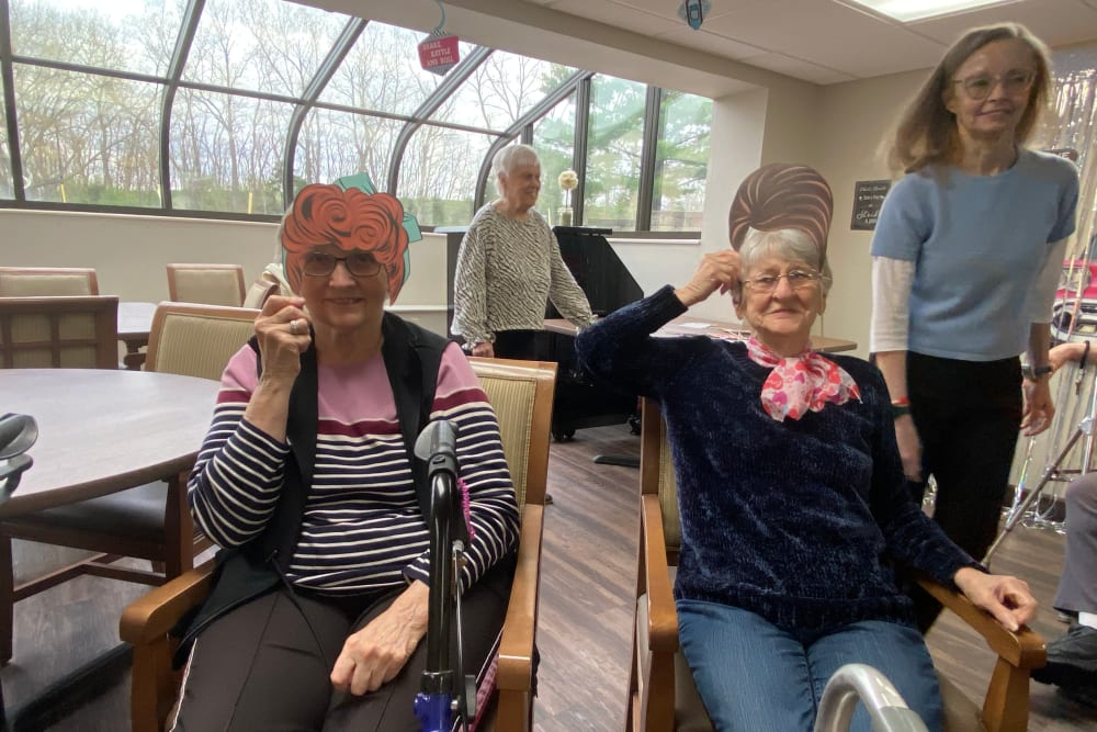 residents posing for a fun photo