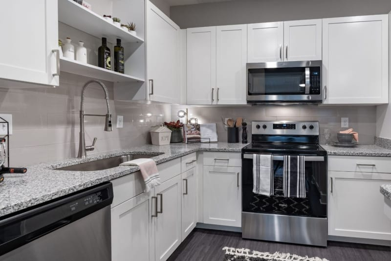 Model kitchen at Reunion at 400 in Kissimmee, Florida