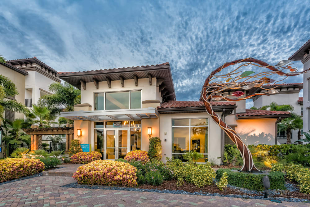 Exterior with art outside Jefferson Westshore in Tampa, Florida