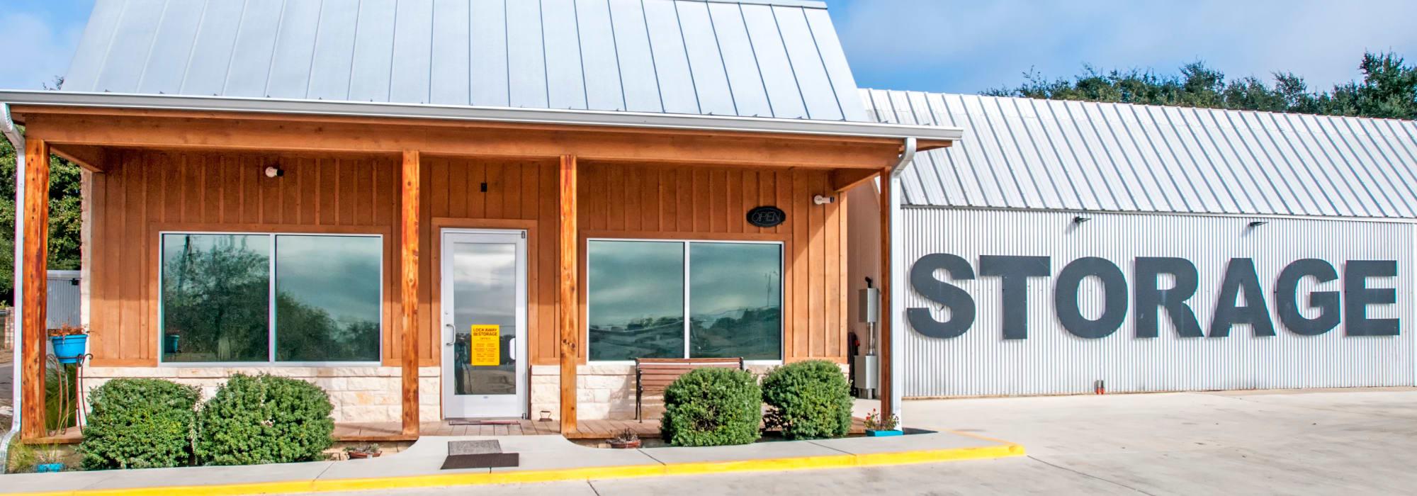 Front Office Exterior Lockaway Storage in Boerne, Texas
