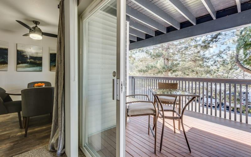 A private balcony at Cascade Ridge in Silverdale, Washington