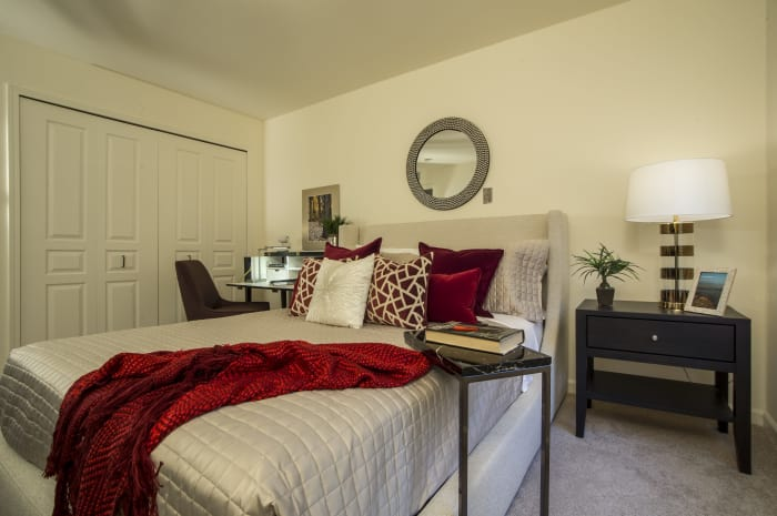 Cozy bedroom at All Seasons of Rochester Hills in Rochester Hills, Michigan
