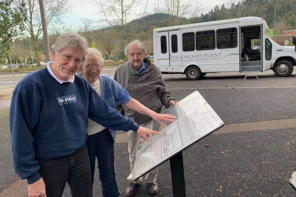 A residents of Edgewood Point Assisted Living on an outing