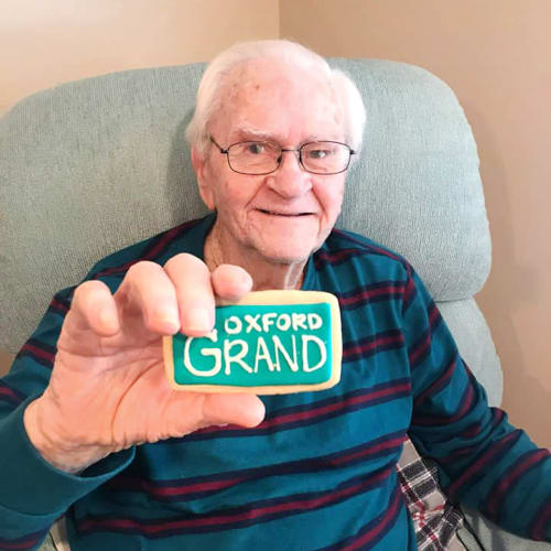 Resident at The Oxford Grand Assisted Living & Memory Care in Kansas City, Missouri