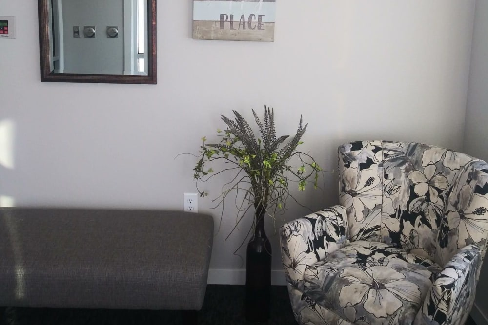 Cozy sitting area for residents at Arlington Place of Red Oak in Red Oak, Iowa