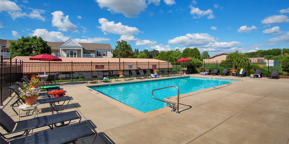 Sparkling swimming pool available at 1820 South Apartments in Mount Pleasant, Michigan.
