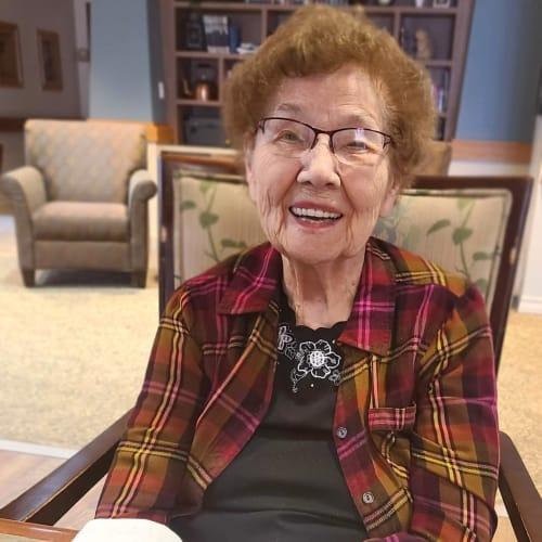 Nice lady resident at Oxford Senior Living in Wichita, Kansas