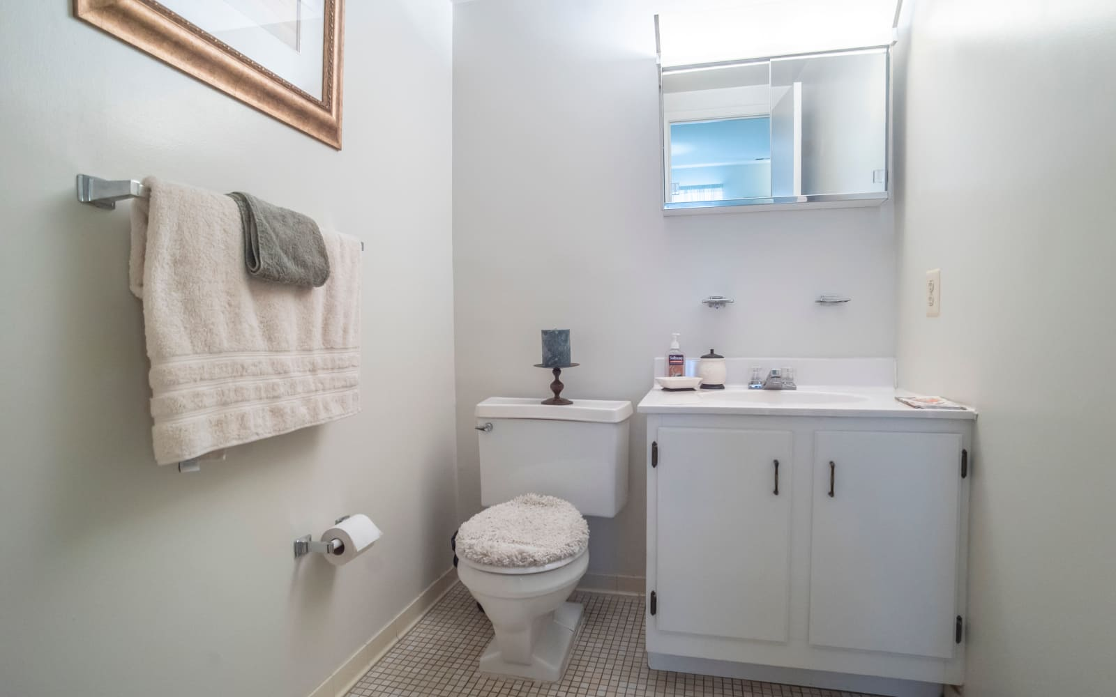 Half-bathroom at Hunt Club Apartments in Cockeysville, Maryland