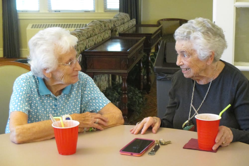 Women socializing at Eastern Star Masonic Retirement Campus in Denver, CO