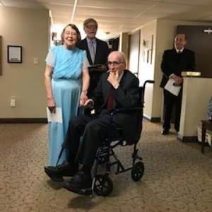 Residents Kenneth and Helen renew their vows for their Dare 2 Dream at Garnett Place in Cedar Rapids, Iowa.