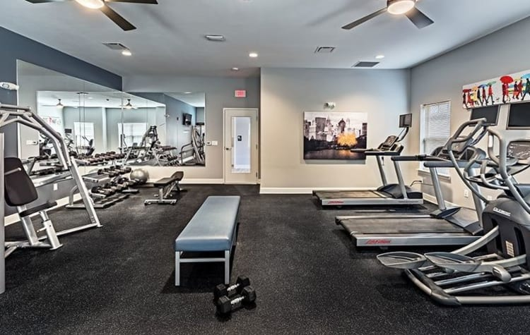 Fitness center at The Kane at Gray's Landing