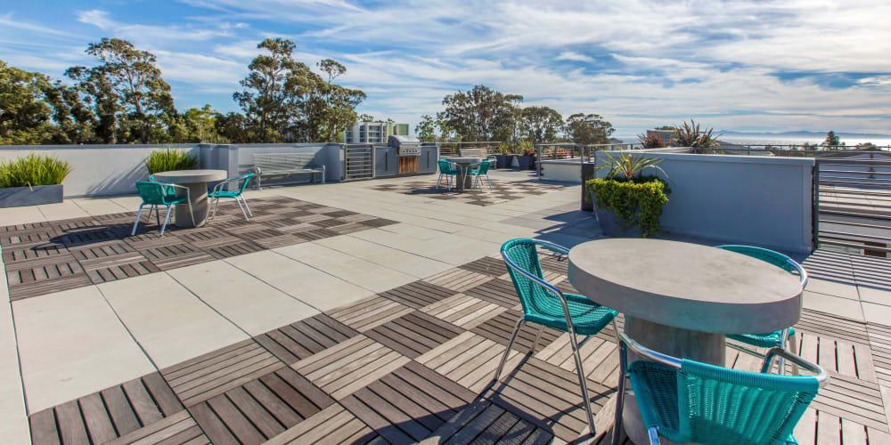 Rooftop patio at ICON in Isla Vista, California