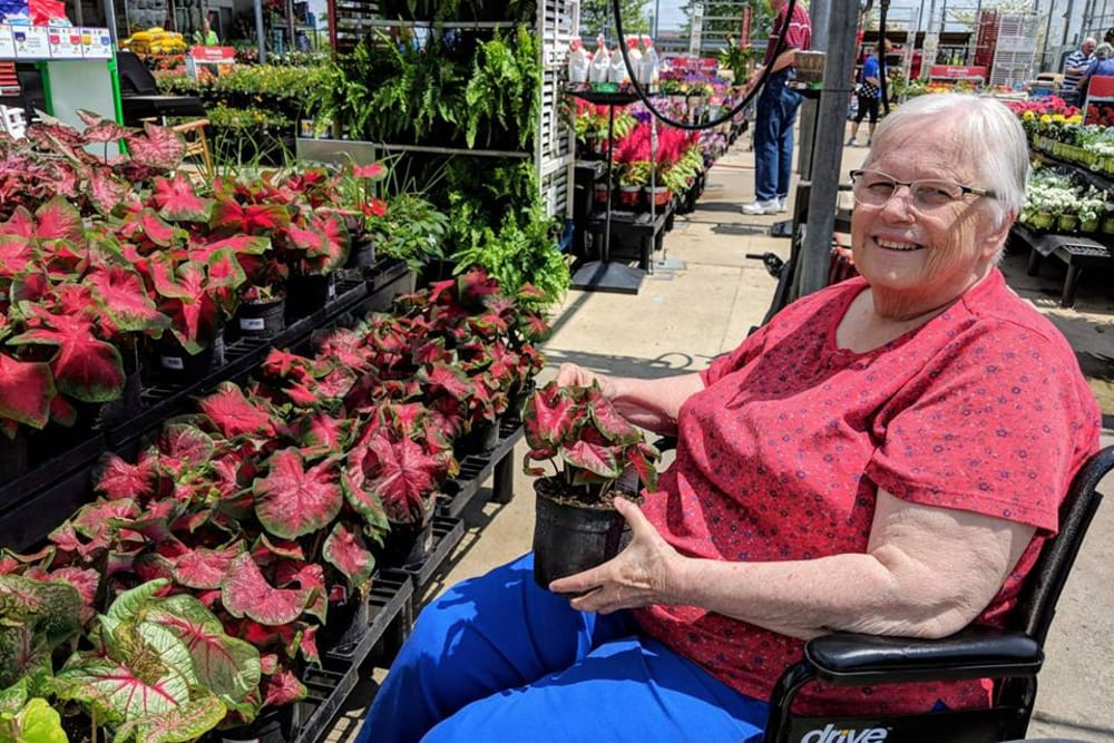Residents gardening at The Willows at Fritz Farm in Lexington, Kentucky
