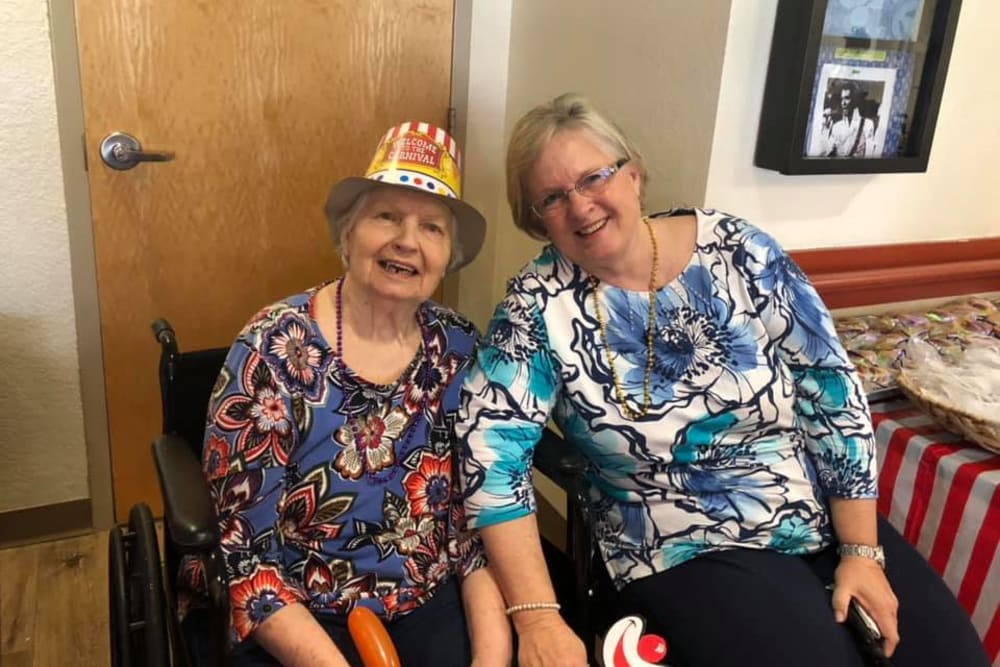 Two happy residents at Balmoral Assisted Living in Lake Placid, Florida
