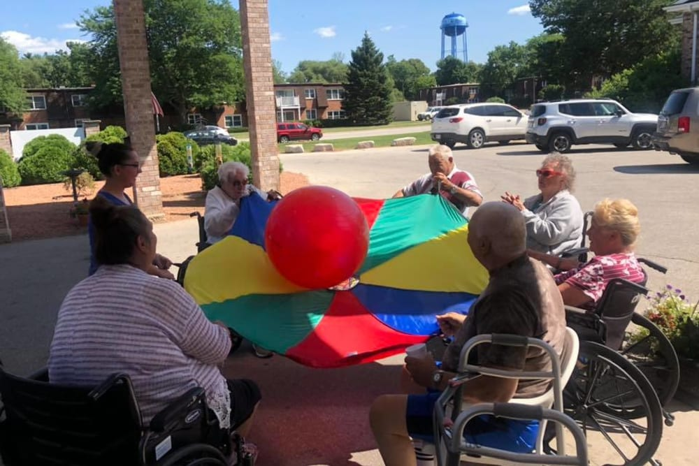 Residents playing at Birch Creek in De Pere, Wisconsin