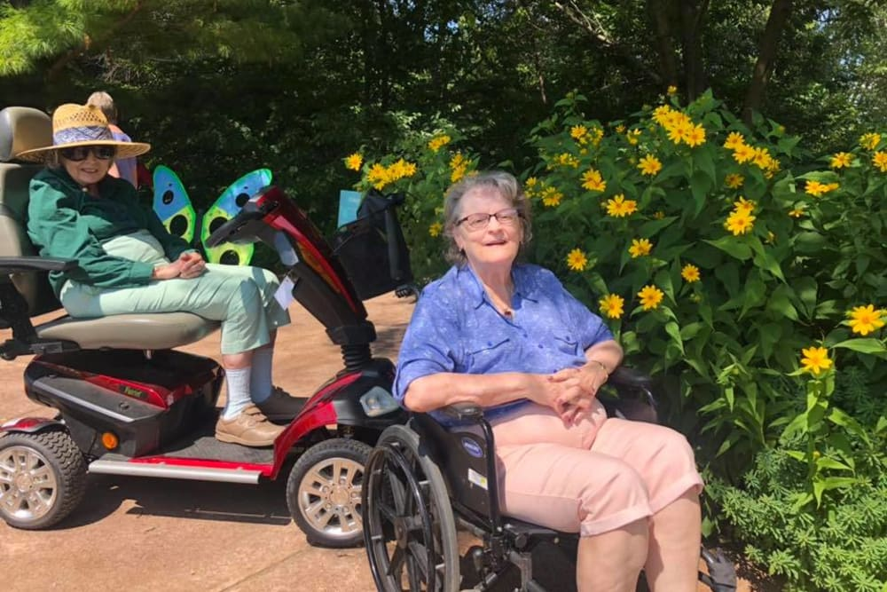 Residents enjoying a sunny day at Birch Creek in De Pere, Wisconsin
