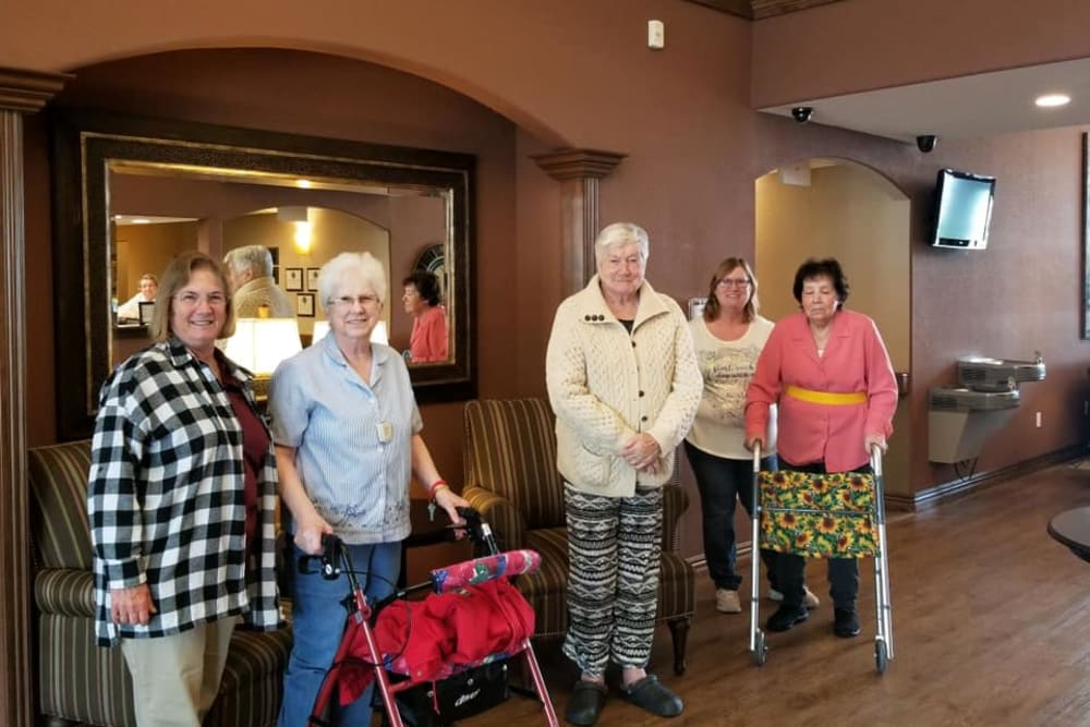 Smiling residents at Villas of Holly Brook Effingham in Effingham, Illinois