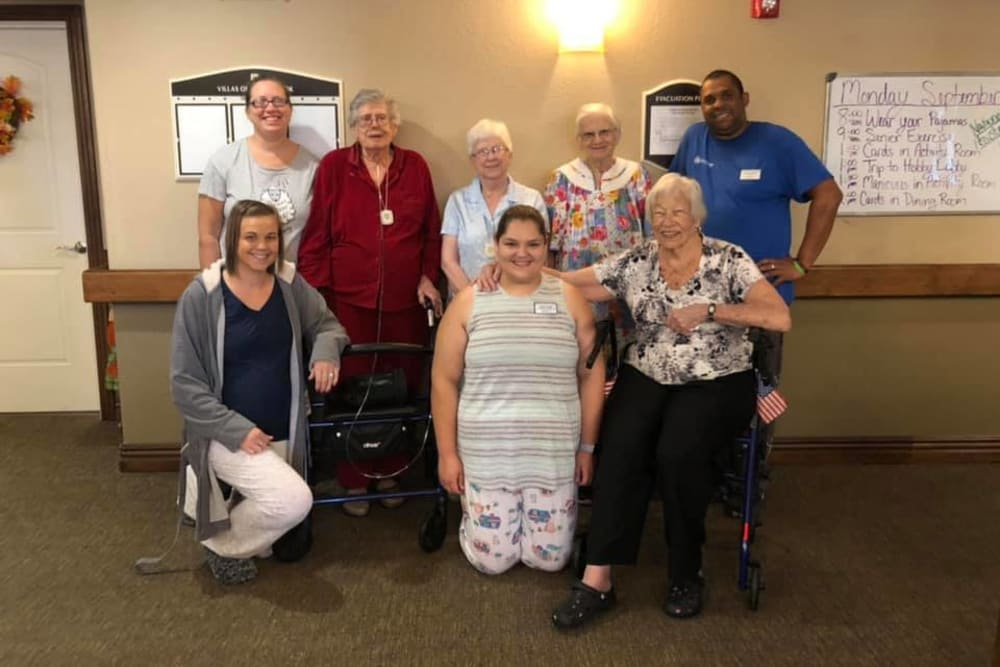 Residents and staff at Villas of Holly Brook Effingham in Effingham, Illinois