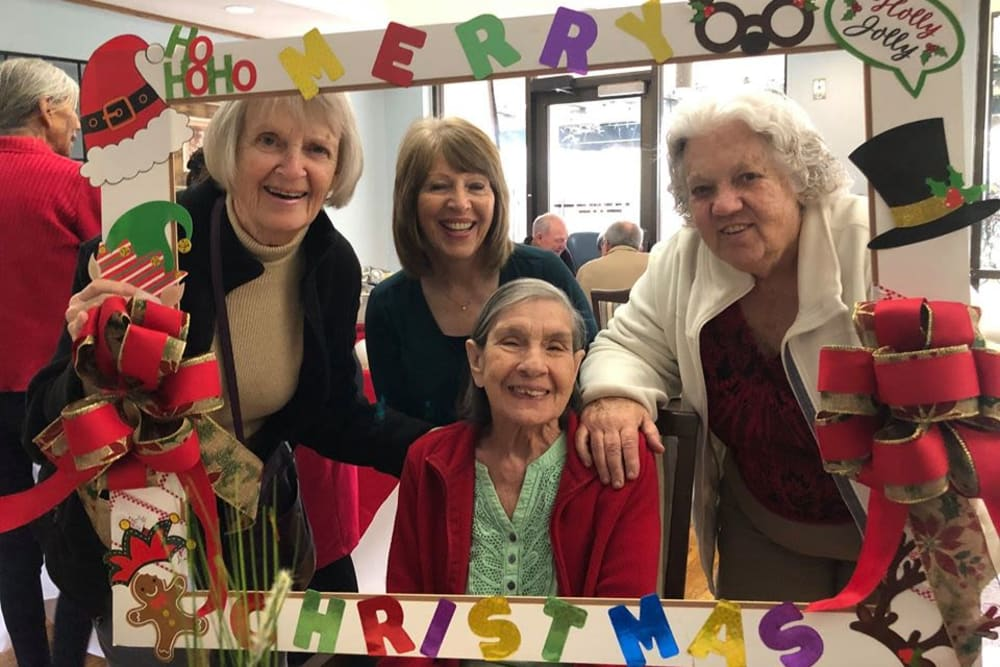 Residents celebrating Christmas at Parkrose Gardens of Fairfield in Fairfield, California