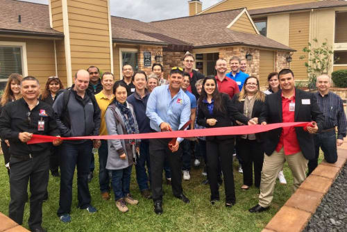 Deerbrook Forest Apartments ribbon cutting ceremony
