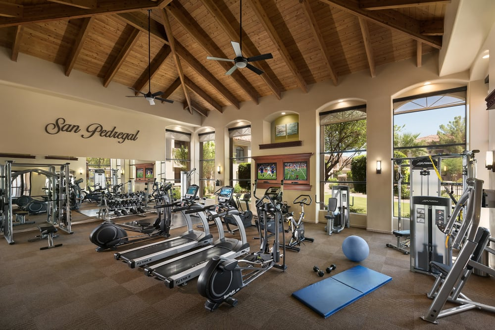 Luxury 24 hour fitness center at San Pedregal in Phoenix, Arizona