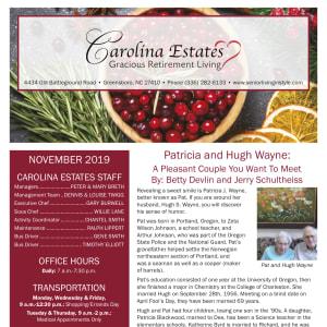November Carolina Estates newsletter