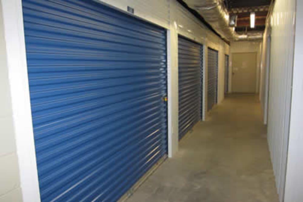 Inside storage at Best American Storage in Lynn Haven, Florida