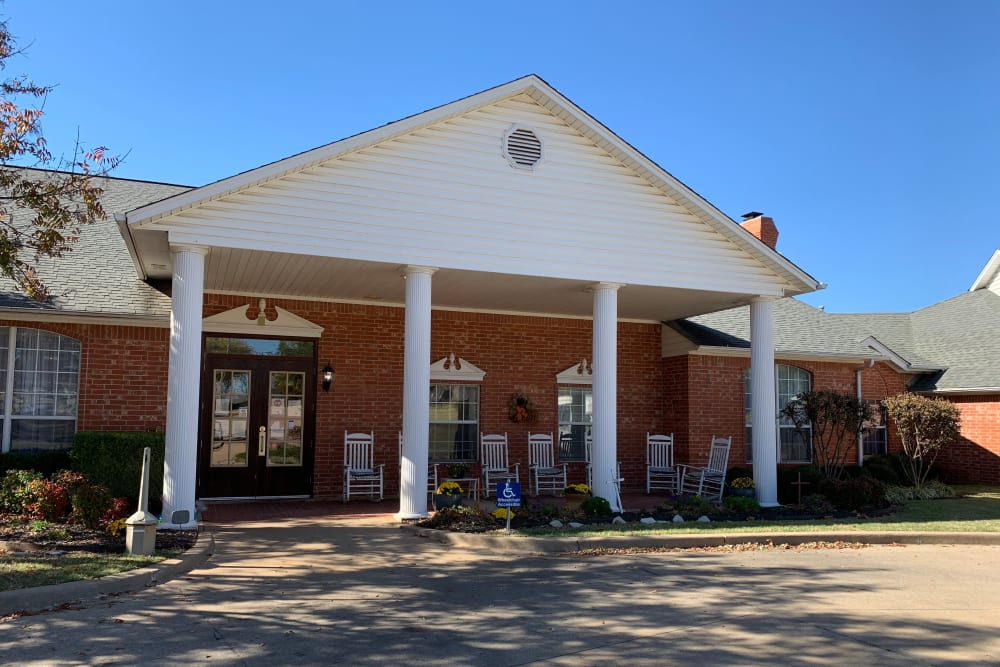 Front entrance at The Renaissance of Ponca City in Ponca City, Oklahoma