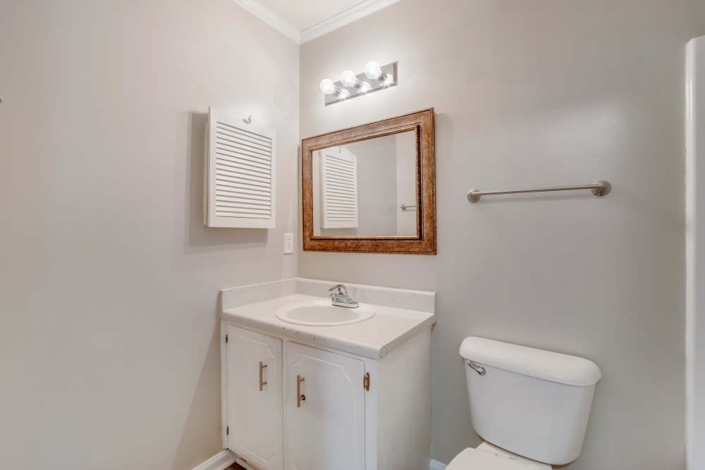 Bathroom with an oval tub at 220 West Townhomes in Augusta, Georgia