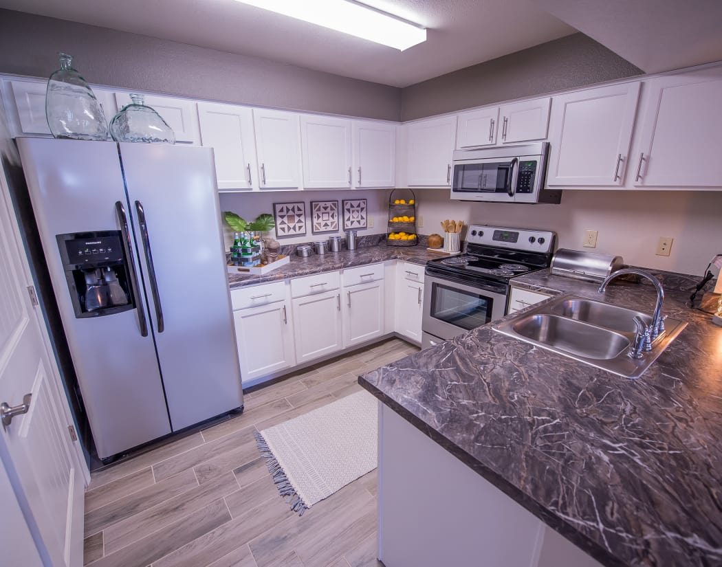 Kitchen at Scissortail Crossing Apartments in Broken Arrow, Oklahoma