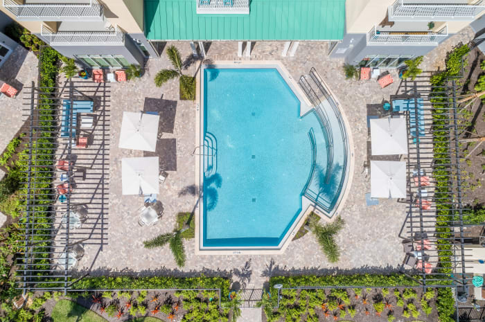 Resort Style Swimming Pool at All Seasons Naples in Naples, Florida