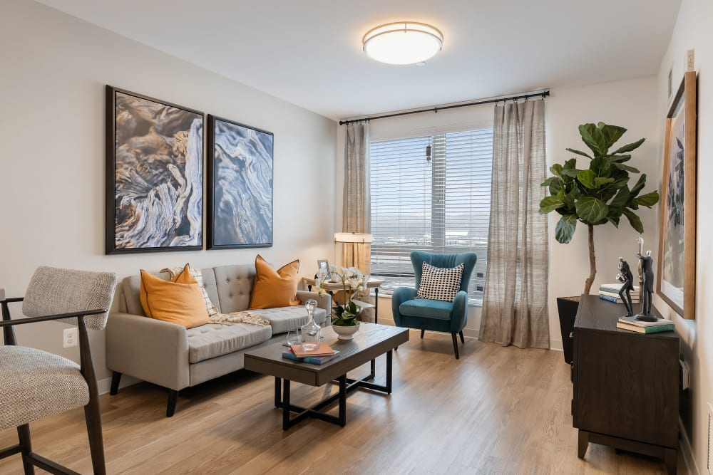 Living room with a view at Anthology of King of Prussia – Now Open in King of Prussia, Pennsylvania