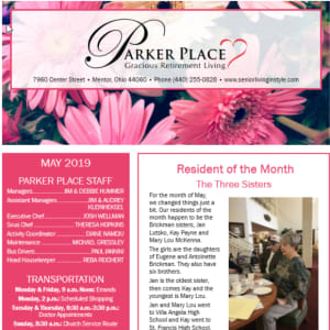 May Parker Place newsletter