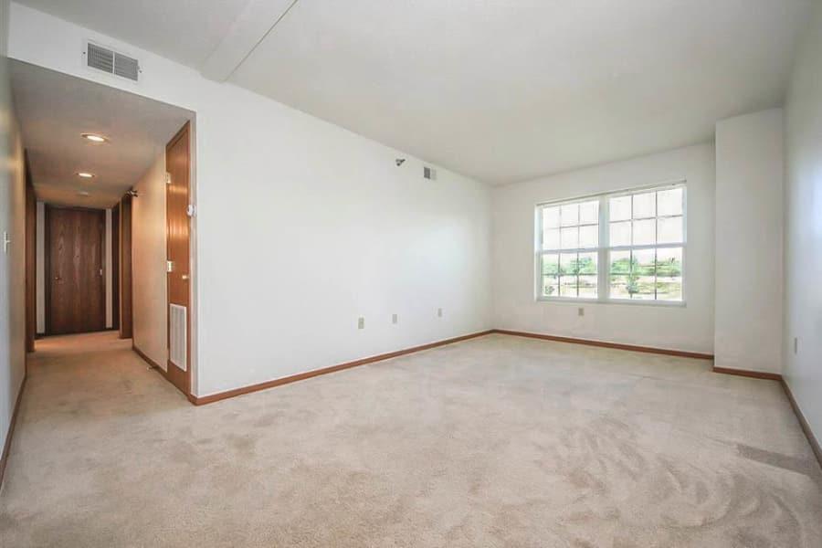 Bright, open room at Regency Heights in Iowa City, Iowa