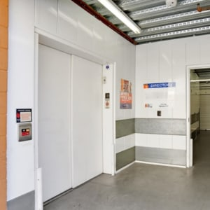 Elevator with wide doors at A-1 Self Storage in Chula Vista, California