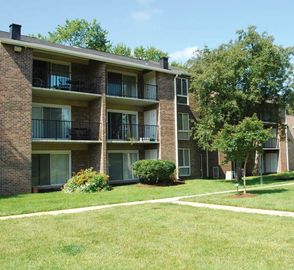 One of our apartment buildings at East Meadow Apartments in Fairfax, Virginia