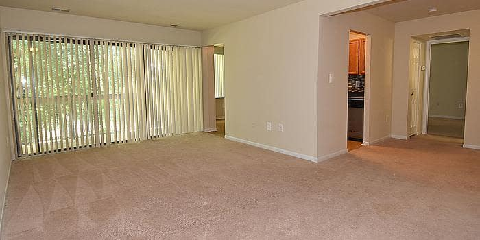 Large living room at Montgomery Trace Apartment Homes in Silver Spring, Maryland