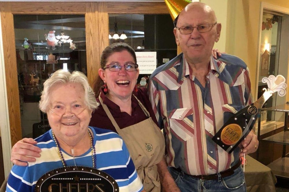 Happy residents at The Wellington in Minot, North Dakota