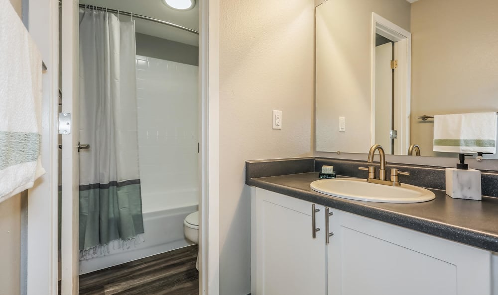 Bathroom at City Center Station Apartments