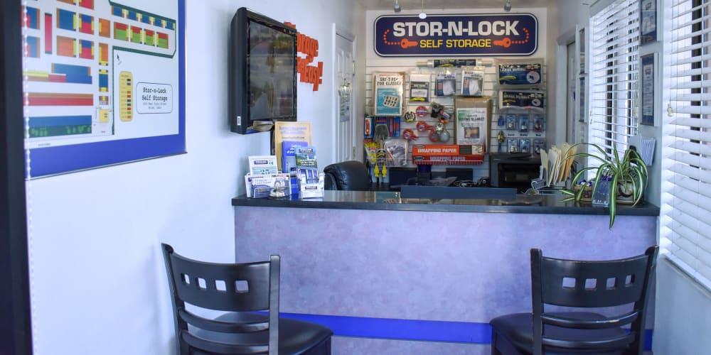 Inside the office at STOR-N-LOCK Self Storage in Boise, Idaho